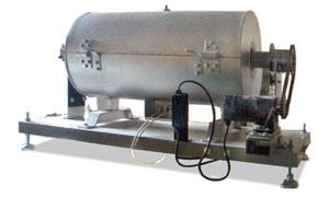 バッチ式小型ロータリーキルン
