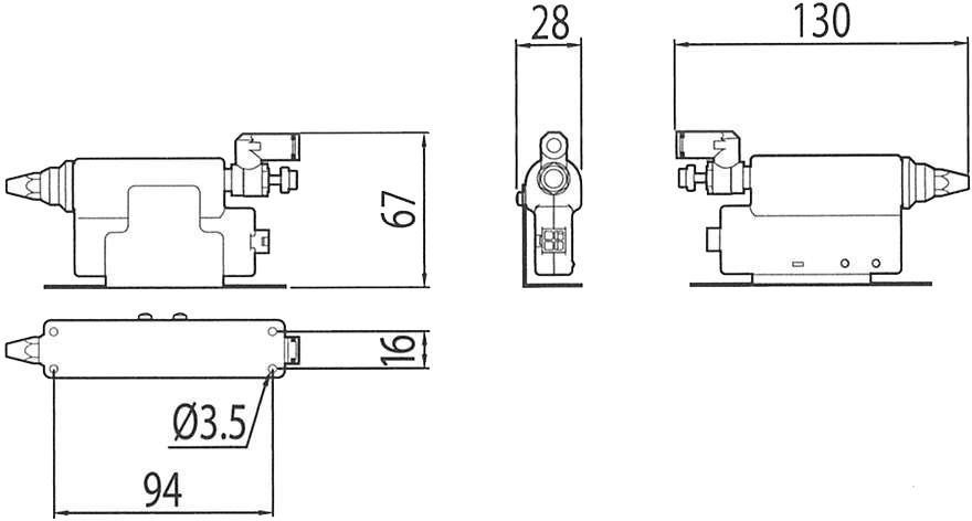 イオンノズル外形寸法